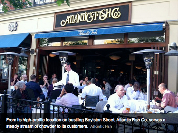 Atlantic Fish Company patio seating USA Today feature