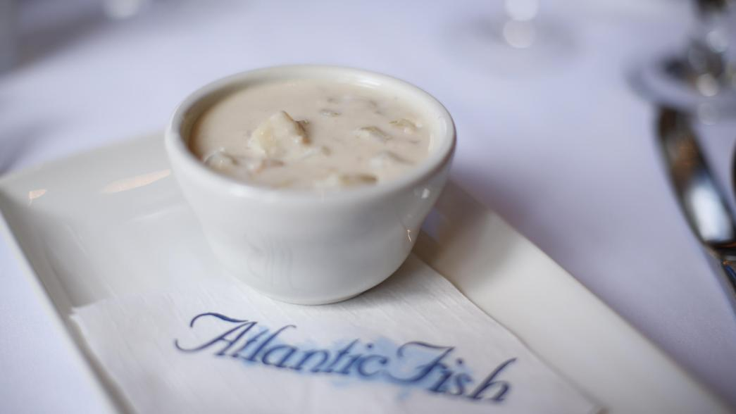 clam chowder from Atlantic Fish Company