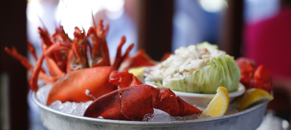 lobster with wedge salad