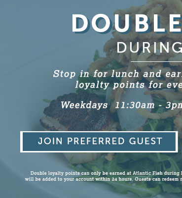 Double Points for Lunch - join Preferred Guest